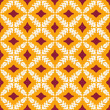 Seamless pattern of flowers. Seamless pattern of stylized geometric flowers Stock Photography