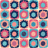Seamless pattern with flowers. For textiles, interior design, for book design, website background Stock Photo