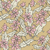 Seamless pattern, flowers theme Stock Photo
