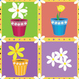 Seamless pattern with flowers. Vector seamless pattern with flowers Royalty Free Stock Image