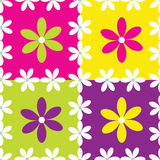 Seamless pattern with flowers. Vector seamless pattern with flowers Royalty Free Stock Photos