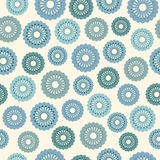 Seamless  Pattern with Flowers. Vector seamless  pattern with blue flowers and light background Stock Photography