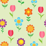 Seamless pattern of flowers Stock Image