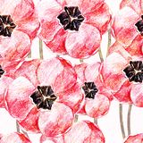 Seamless pattern with flowers. Vector, EPS 10 Stock Images