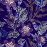 Seamless pattern with flowers. Vector floral seamless pattern. Design for fabrics and textiles, wallpaper and paper. Victorian style Royalty Free Stock Image