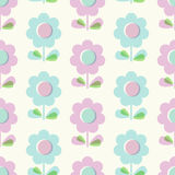 Seamless pattern with flowers. Vector illustration Stock Photography