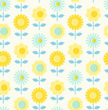 Seamless pattern with flowers. Vector illustration Royalty Free Stock Image