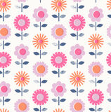 Seamless pattern with flowers. Vector illustration Stock Images