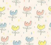 Seamless pattern with flowers. Vector illustration Stock Photos