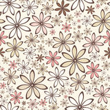 Seamless pattern with flowers. Vector illustration. Stock Photography