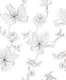 Seamless pattern flowers. Seamless vector pattern summer flowers Royalty Free Stock Photography