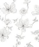 Seamless pattern flowers. Seamless vector pattern summer flowers stock illustration