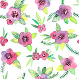 Seamless pattern with flowers in vector. Stock Photo