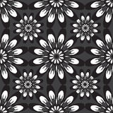 Seamless pattern with flowers. Vintage texture. Monochrome backdrop. Royalty Free Stock Photo