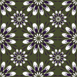 Seamless pattern with flowers. Vintage texture. Monochrome backdrop. Royalty Free Stock Image