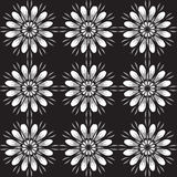 Seamless pattern with flowers. Vintage texture. Monochrome backdrop. Stock Image
