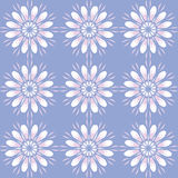 Seamless pattern with flowers. Vintage texture. Monochrome backdrop. Stock Images