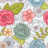 Seamless pattern with flowers. Stock Photography