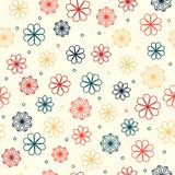 Seamless pattern with flowers in warm colors Royalty Free Stock Photography