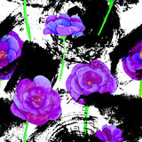 Seamless pattern with flowers. Royalty Free Stock Photography