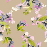 Seamless pattern with flowers watercolor. Gentle colors. Female Royalty Free Stock Image