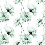 Seamless pattern with flowers. Watercolor painting Stock Photography