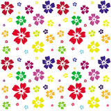 Seamless pattern of flowers on a white background Stock Photo