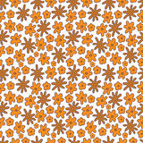 Seamless pattern of flowers on white background. Vector fully editable background vector illustration
