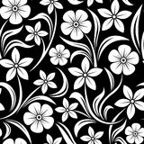 vector seamless pattern with flowers. Stock Photo