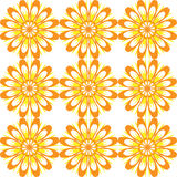Seamless pattern with flowers. Yellow vintage texture. Stock Photos