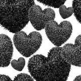 Seamless pattern with fluffy soft heart royalty free illustration