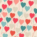 Seamless pattern with flying balloons in the shape Stock Photos
