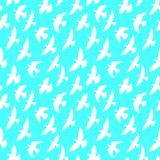 Seamless pattern of flying birds. Stock Photography