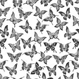 Seamless pattern with flying butterflies Royalty Free Stock Photo