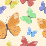 Seamless pattern with flying butterflies Royalty Free Stock Images
