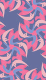 Seamless Pattern of Flying Crescents Royalty Free Stock Photos