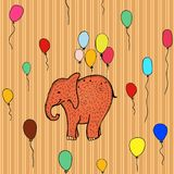 Seamless pattern with flying elephant Stock Image