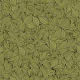 Seamless pattern foliage. Pure single continuous seamless pattern foliage color light marsh Stock Illustration