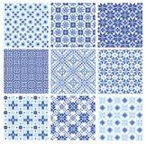 seamless pattern in folk style Stock Photo
