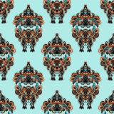 Seamless Pattern in Folk Style Stock Photo