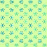 Seamless pattern. Fond green and blue colors. Endless texture can be used for printing onto fabric and paper or invitation. Royalty Free Stock Photography