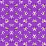 Seamless pattern. Fond purple and yellow colors. Royalty Free Stock Photo
