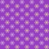 Seamless pattern. Fond purple and yellow colors. Royalty Free Stock Photo