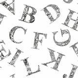 Seamless pattern font Stock Image