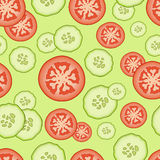 Seamless pattern with food elements – cucumbers and tomato. Seamless pattern with food elements Stock Photos