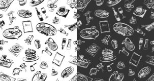 Seamless pattern with food stock illustration