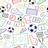 Seamless pattern of football symbols stock illustration