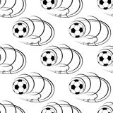 Seamless pattern of footballs or soccer balls Royalty Free Stock Photography