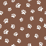 Seamless pattern with footprint of cat and dog Royalty Free Stock Photos