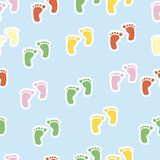 Seamless pattern with footprint Royalty Free Stock Photos